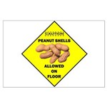 Cautions Peanuts On Floor Large Poster