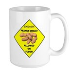 Cautions Peanuts On Floor Large Mug