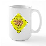 Cautions Peanuts On Floor Large Mug