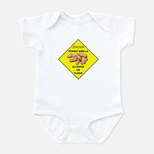 Cautions Peanuts On Floor Infant Bodysuit