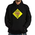 Cautions Peanuts On Floor Hoodie (dark)