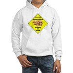 Cautions Peanuts On Floor Hooded Sweatshirt