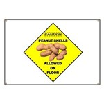 Cautions Peanuts On Floor Banner
