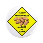 "Cautions Peanuts On Floor 3.5"" Button (100 pa"