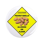 "Cautions Peanuts On Floor 2.25"" Magnet (100 p"