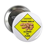 "Cautions Peanuts On Floor 2.25"" Button (10 pa"