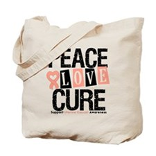 Uterine Cancer Cure Tote Bag