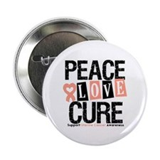 "Uterine Cancer Cure 2.25"" Button"