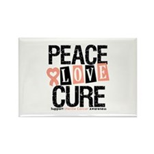 Uterine Cancer Cure Rectangle Magnet (100 pack)