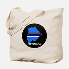 Flag Map of Botswana Tote Bag