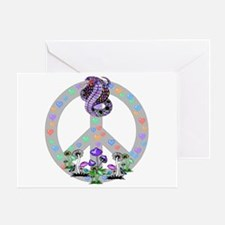 Peace Symbol Snake Greeting Card