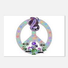 Peace Symbol Snake Postcards (Package of 8)