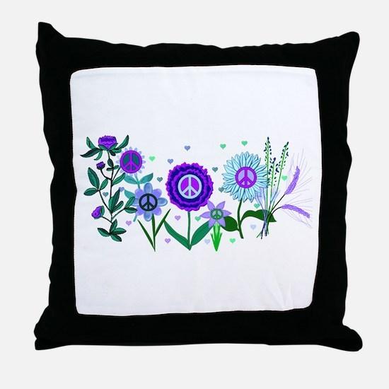 Growing Peace Throw Pillow