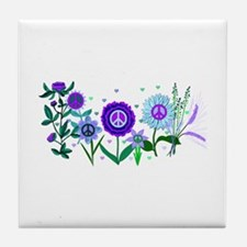 Growing Peace Tile Coaster