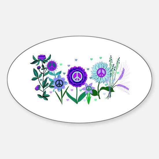 Growing Peace Sticker (Oval)