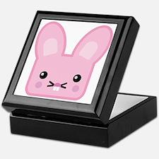 Kawaii Pink Easter Bunny Keepsake Box