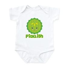 Ticklish Picklish Kawaii Pickle Slice Onesie