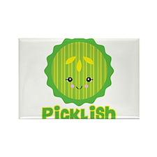 Ticklish Picklish Kawaii Pickle Slice Rectangle Ma