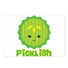 Ticklish Picklish Kawaii Pickle Slice Postcards (P