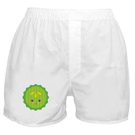 Cute Happy Kawaii Pickle Slice Boxer Shorts