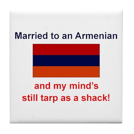 Married To Armenian Tile Coaster