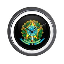 Coat of Arms of Brazil Wall Clock