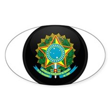Coat of Arms of Brazil Oval Decal