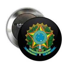 """Coat of Arms of Brazil 2.25"""" Button"""
