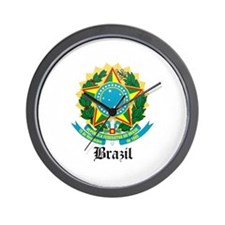 Brazilian Coat of Arms Seal Wall Clock