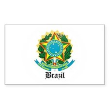 Brazilian Coat of Arms Seal Rectangle Decal