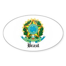 Brazilian Coat of Arms Seal Oval Decal