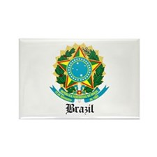 Brazilian Coat of Arms Seal Rectangle Magnet