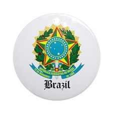 Brazilian Coat of Arms Seal Ornament (Round)