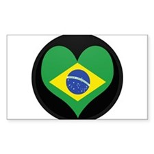 I love Brazil Flag Rectangle Decal