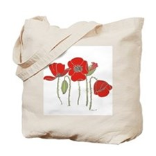 Red Poppies Art Tote Bag