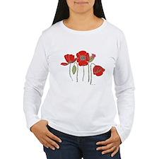 Red Poppies Art T-Shirt