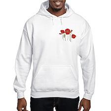Red Poppies Art Hoodie