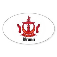 Bruneian Coat of Arms Seal Oval Decal