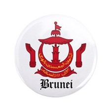 """Bruneian Coat of Arms Seal 3.5"""" Button"""