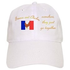 France and Chicken Baseball Cap