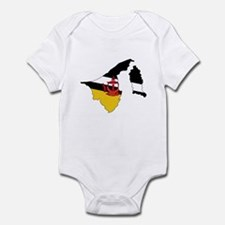 BRUNEI DARUSSALAM Flag Map Infant Bodysuit