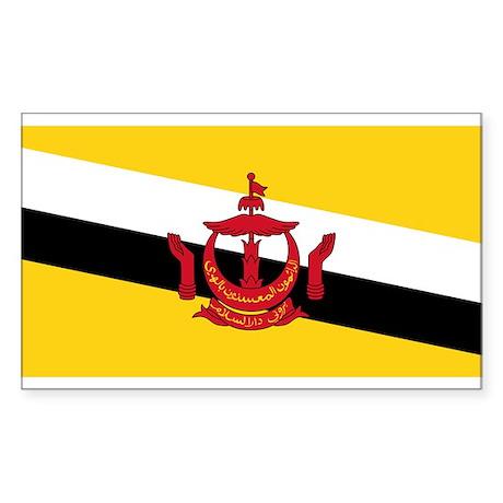 BRUNEI DARUSSALAM Flag Rectangle Sticker