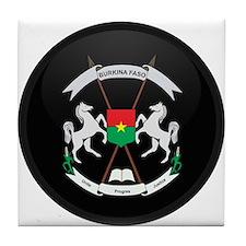 Coat of Arms of Burkina faso Tile Coaster