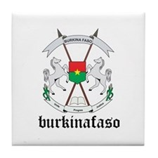 Burkinabe Coat of Arms Seal Tile Coaster