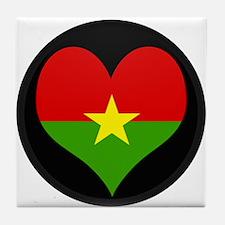 I love Burkina faso Flag Tile Coaster