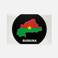 Flag Map of Burkina faso Rectangle Magnet