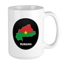 Flag Map of Burkina faso Mug