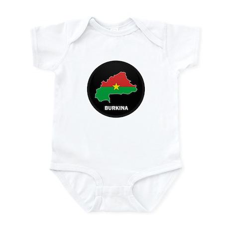 Flag Map of Burkina faso Infant Bodysuit