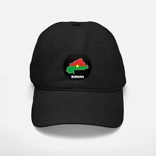 Flag Map of Burkina faso Baseball Hat
