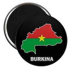 "Flag Map of Burkina faso 2.25"" Magnet (10 pack)"